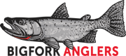 Bigfork Anglers Sticky Logo